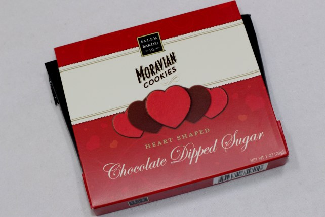 Chocolate Dipped Sugar Moravian Cookies