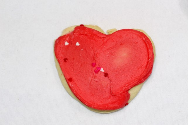 Buttercream Valentine Cookie by Cheryl`s