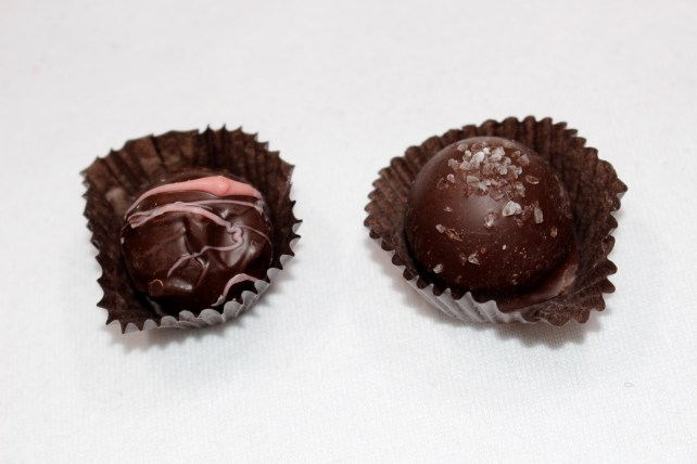 Caramel Sea Salt & Raspberry Truffles by Annalisa Chocolates