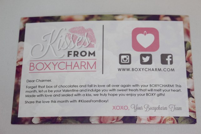 Boxycharm February Theme is Kisses From Boxycharm