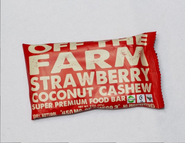 Off The Farm Strawberry Coconut Premium Food Bar