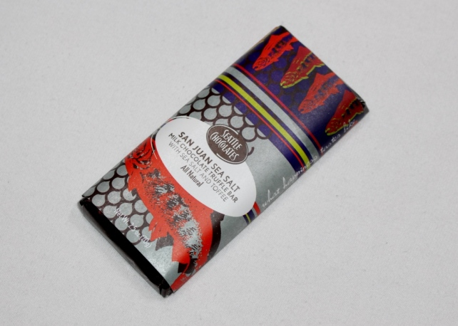 San Juan Sea Salt Truffle Bar by Seattle Chocolates