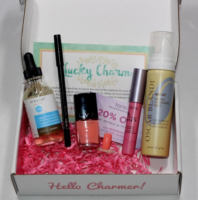 BOXYCHARM March 2015 Total Value $112