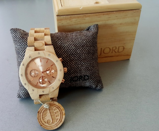 JORD Sidney Maple & Rose Gold Watch