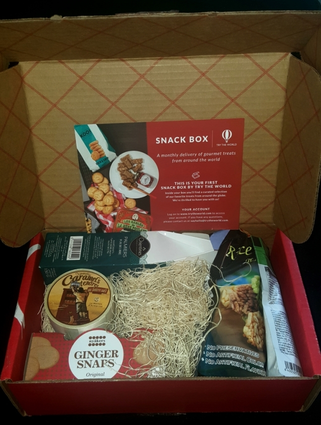 Try The World Snack Box First inside look
